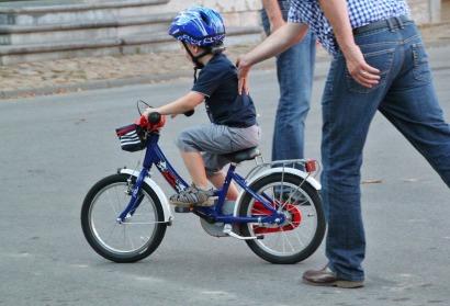 child on a bike